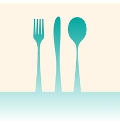 Cutlery shadow vector image vector image