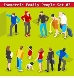 Family set 03 people isometric vector