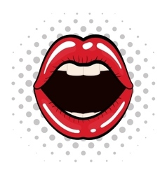 Female mouth icon pop art design graphic vector