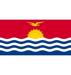 Flag of Kiribati in correct size and color vector image vector image