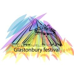 Glastonbury festival vector