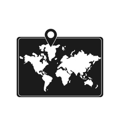 Isolated map and cartography design vector image vector image