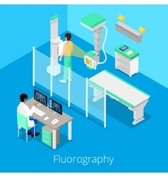 Isometric Radiology Fluorography Procedure vector image vector image