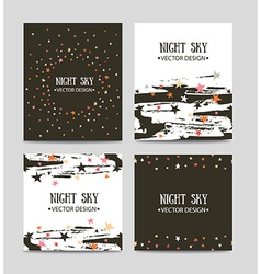 set of bright hand drawn cards templates Greeting vector image vector image