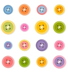 sewing buttons set vector image vector image