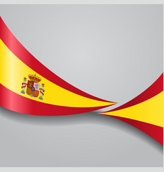 Spanish wavy flag vector