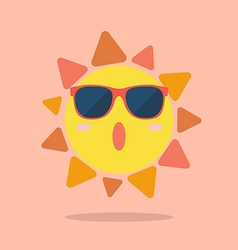 Summer sun wearing sunglasses vector image vector image