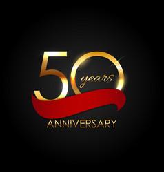 Template 50 years anniversary vector