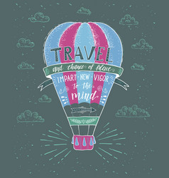 Travel hand drawn for t-shirt vector