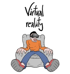 virtual reality experience vector image vector image