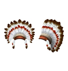 War bonnet Indian vector image vector image
