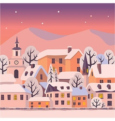Winter twilight vector image vector image