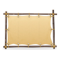 Wooden frame with canvas vector