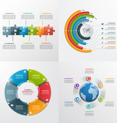 6 steps infographic templates Business concept vector image