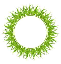 Spring freshness card with grass vector