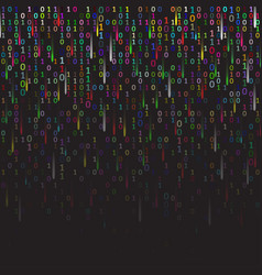 Binary code colored and dark background with vector