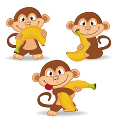 Monkey and banana vector
