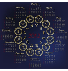 2012 horoscope vector image