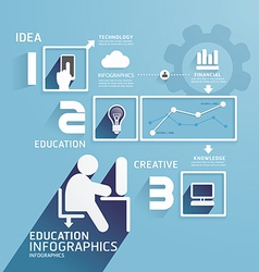 Modern Design Education infographic paper cut vector image