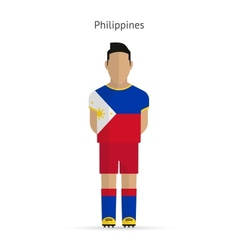 Philippines football player soccer uniform vector