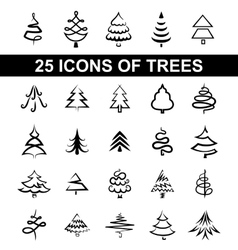 Icons tree vector