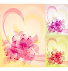 romantic floral design vector image