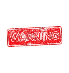 Warning red grunge rubber stamp vector