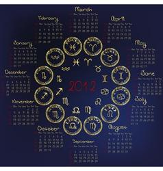 2012 horoscope vector