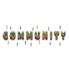 Community word form people design vector