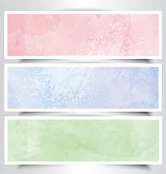 Watercolor headers vector