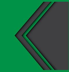 abstract green gray arrow design modern vector image vector image