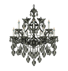 baroque black chandelier vector image