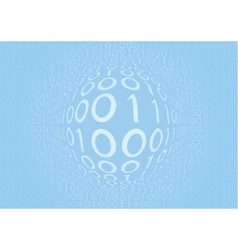 binary blue vector image vector image