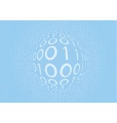 binary blue vector image