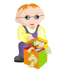 child bookkeeper vector image
