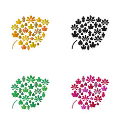 color leaves vector image vector image