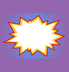 Comic white explosion vector
