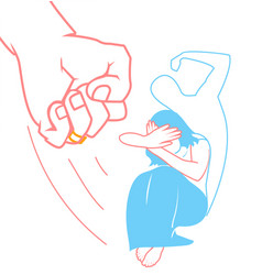 Concept of domestic violence vector