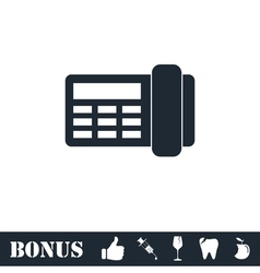 Fax icon flat vector