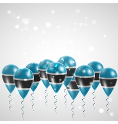 Flag of Botswana on balloon vector image