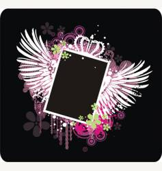 frame with wings vector image vector image