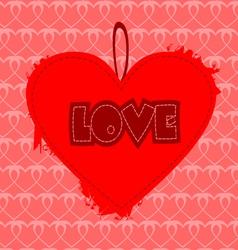 Grunge heart design vector