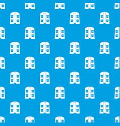 Hunter vest pattern seamless blue vector