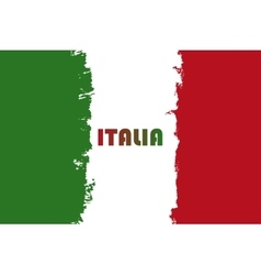 Italian flag republic day vector