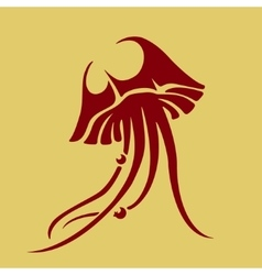 Jellyfish icon vector