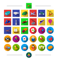 land transportation travel and other web icon in vector image