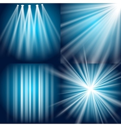 Light flash explosion and glow vector