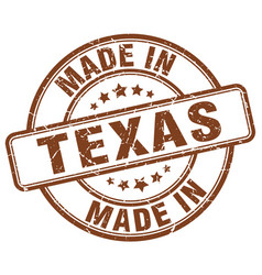 Made in texas brown grunge round stamp vector