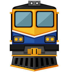 modern train design on white background vector image