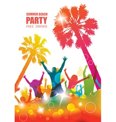 Party background with happy young people vector image vector image